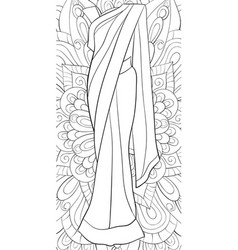 adult coloring bookpage a cute saari on the vector image