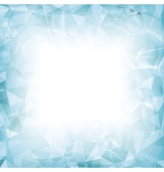 Azure polygonal background vector