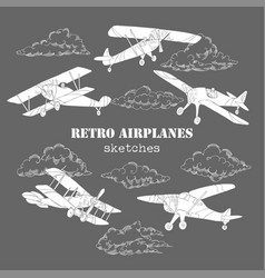 Backgr colored airplanes-05 vector