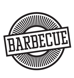 Barbeque stamp in german vector