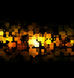 Black orange yellow glowing various tiles vector