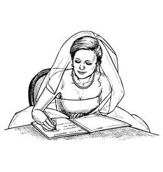 bride signs vector image