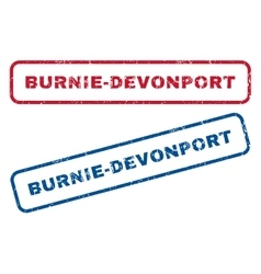 Burnie-Devonport Rubber Stamps vector image