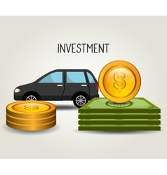 Car and vehicles business investment vector image