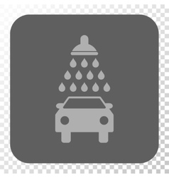 Car Shower Rounded Square Button vector