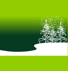 Cedar tree background vector