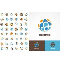 Collection of abstract icons and symbols vector image