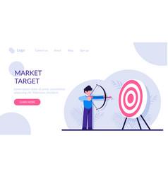 Concept market target business goal vector
