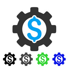 Development cost flat icon vector
