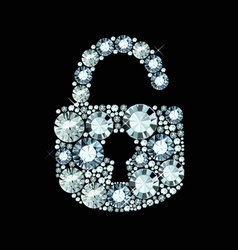 Diamond Lock Icon vector