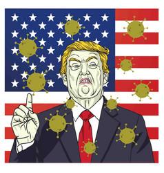 Donald trump covid19 19 coronavirus campaign vector