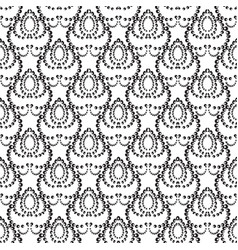 Dotted seamless pattern abstract black and vector
