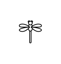 Dragonfly fly icon vector