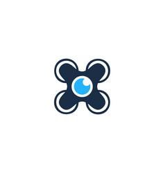 drone camera logo icon design vector image