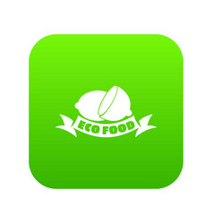 eco food icon green vector image