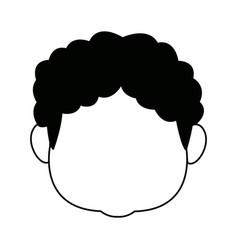 female grandmother head character avatar vector image