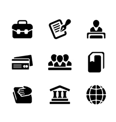 Financial activity and business staff flat icons vector image