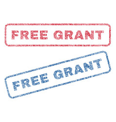 Free grant textile stamps vector