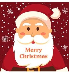 Full Face Santa Merry Christmas vector image