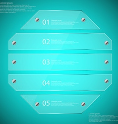 Glass octagon divided to five parts infographic vector