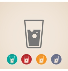 glass of water icons vector image