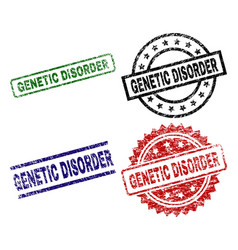 Grunge textured genetic disorder seal stamps vector