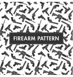 Gun pattern background vector