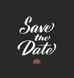 hand drawn lettering - save date elegant vector image