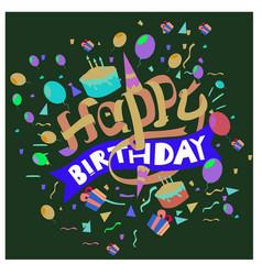 Happy birthday typography design for greeting vector