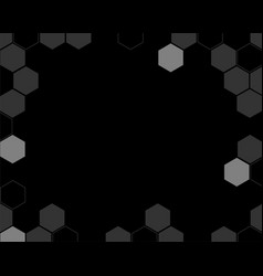 hive abstract black background vector image