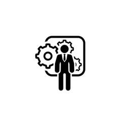 Integration management icon flat design vector