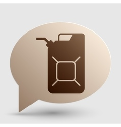 Jerrycan oil sign Jerry can oil sign Brown vector