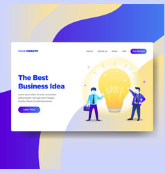 landing page template business idea vector image