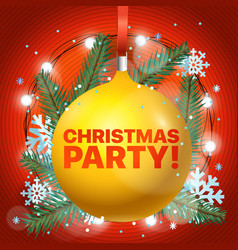 lets party merry christmas and happy new year vector image