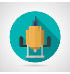 Milling cutter flat color icon vector