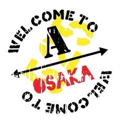 Osaka stamp rubber grunge vector