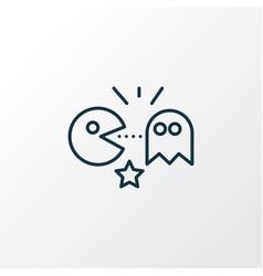 Pacman icon line symbol premium quality isolated vector