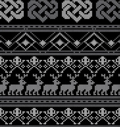pattern crochetN vector image