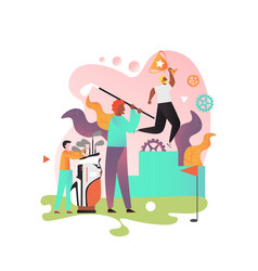 playing golf concept for web banner vector image
