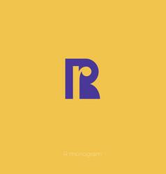 R monogram r logo vector