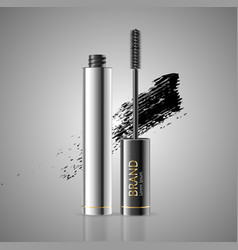 realistic 3d detailed mascara package with eyelash vector image