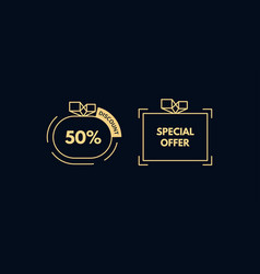 sale tag 50 percent discount sign promotion vector image