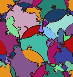 seamless pattern colorful turtles vector image