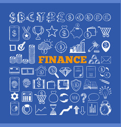 set of business and finance icons 2 vector image