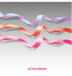 Set of three colorful ribbons vector