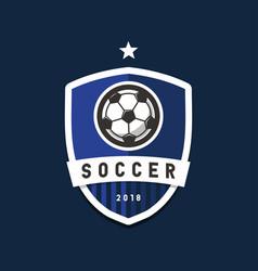 soccer football league logo design elements vector image