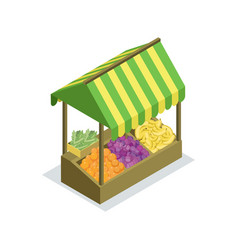 street trading stand isometric 3d icon vector image