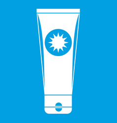 Sunscreen icon white vector