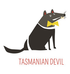 Tasmanian devil cartoon australian animal vector