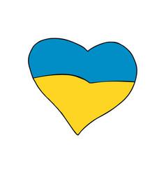 ukraine heart patriotic symbol vector image